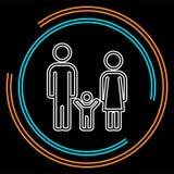 Silhouette de personnes d'icône de famille, enfant de mère de père illustration libre de droits