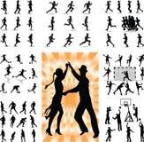 Silhouette de personnes de mélange illustration stock
