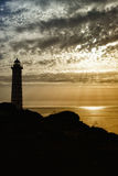Silhouette de phare Images stock