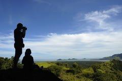 silhouette de photographe Image libre de droits