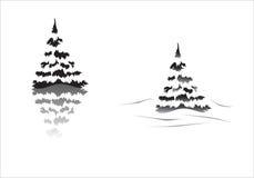Silhouette de Pinetrees Photographie stock libre de droits