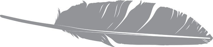 Silhouette de plume d'oiseau Photos libres de droits