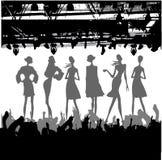Silhouette de podiume de mode illustration de vecteur