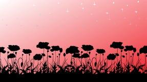 Silhouette de Poppys Images libres de droits