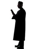 Silhouette de prêtre d'homme Images libres de droits
