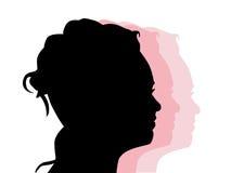 silhouette de profil Photos libres de droits