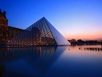 Silhouette de pyramide d'auvent photographie stock libre de droits