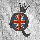 Silhouette de reine de vintage Profil médiéval de reine Images libres de droits