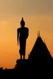 Silhouette de style thaïlandais Bouddha Photos libres de droits