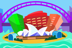 Silhouette de Sydney Abstract Skyline City Skyscraper illustration libre de droits