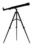 Silhouette de télescope Photographie stock libre de droits