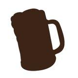 Silhouette de tasse de bière illustration libre de droits