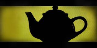 Silhouette de théière Image stock