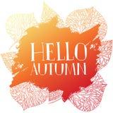 Silhouette de timbre bonjour, automne Photographie stock