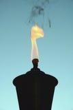 Silhouette de torche de Tiki Photos stock