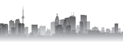 Silhouette de Toronto illustration libre de droits