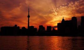 Silhouette de Toronto Images stock