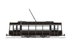 Silhouette de tram Photos stock