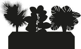 Silhouette de trio d'usine de bureau illustration de vecteur