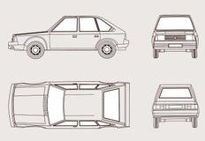 Silhouette de véhicule illustration stock