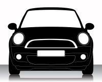silhouette de véhicule Photo stock