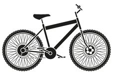Silhouette de vélo illustration de vecteur