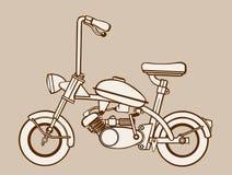 Silhouette de vélomoteur illustration stock