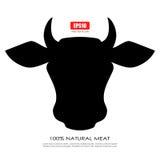 Silhouette de vache illustration de vecteur