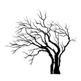Silhouette de vecteur d'arbre d'isolement sur le blanc illustration libre de droits