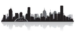 Silhouette de vecteur d'horizon de ville d'Australie de Melbourne illustration libre de droits