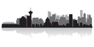 Silhouette de vecteur d'horizon de ville de Canada de Vancouver illustration de vecteur