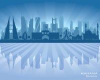 Silhouette de vecteur d'horizon de ville de Manama Bahrain Illustration Stock