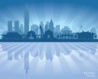 Silhouette de vecteur d'horizon de ville de Taïpeh Taïwan illustration stock
