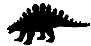Silhouette de vecteur d'un dinosaurus de stegosaurus Image libre de droits