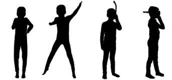 Silhouette de vecteur d'un enfant Image libre de droits