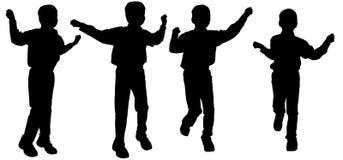 Silhouette de vecteur d'un garçon Images libres de droits
