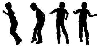 Silhouette de vecteur d'un garçon Photo libre de droits