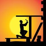 Silhouette de vecteur d'un homme illustration libre de droits
