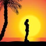 Silhouette de vecteur d'une femme Image stock