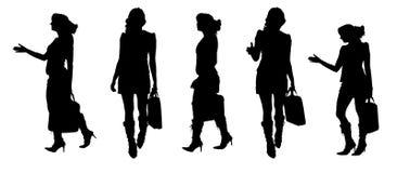 Silhouette de vecteur d'une femme Photo libre de droits