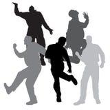 Silhouette de vecteur de danse Photo stock