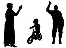 Silhouette de vecteur de famille Image libre de droits