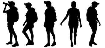 Silhouette de vecteur de femme Photo libre de droits