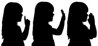 Silhouette de vecteur de fille Photos libres de droits
