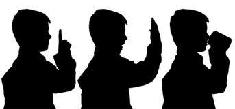 Silhouette de vecteur de garçon Images libres de droits