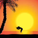 Silhouette de vecteur de plongeur Photo libre de droits