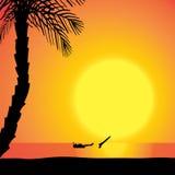Silhouette de vecteur de plongeur Image libre de droits