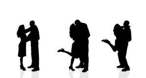 Silhouette de vecteur des couples Photographie stock libre de droits