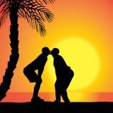 Silhouette de vecteur des homosexuels Photographie stock libre de droits