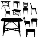 Silhouette de vecteur des meubles illustration libre de droits